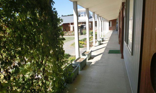中庭に面した回廊
